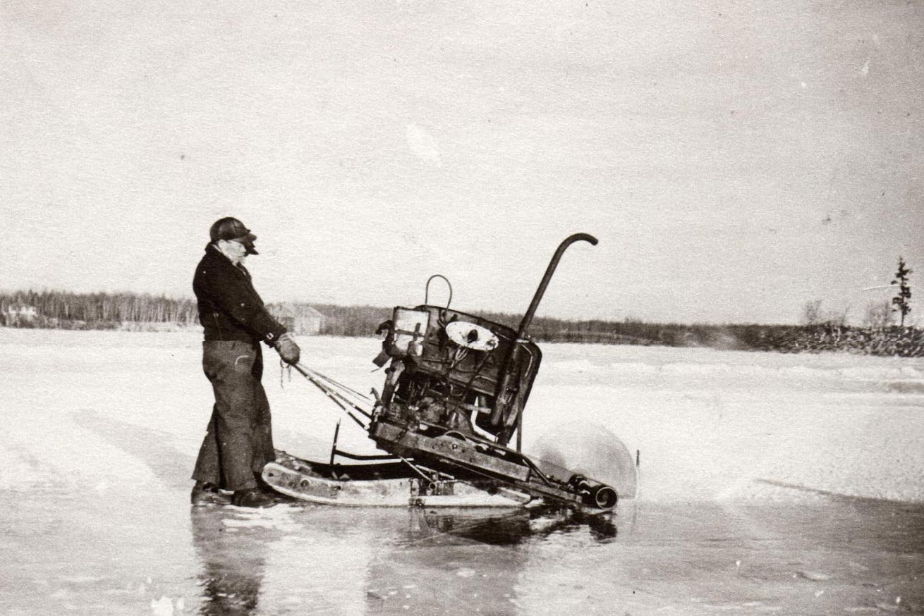Harvesting the ice crop, Ely Lake, Eveleth